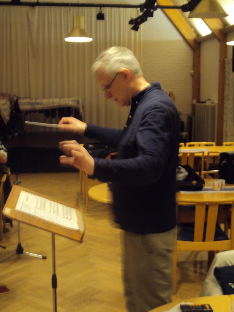 Vår dirigent Lennart Wegelid