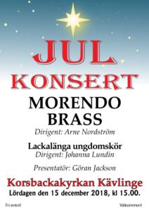 Julkonsert 15 dec 2018